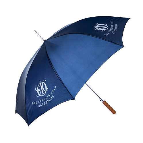 Umbrella with wooden handle