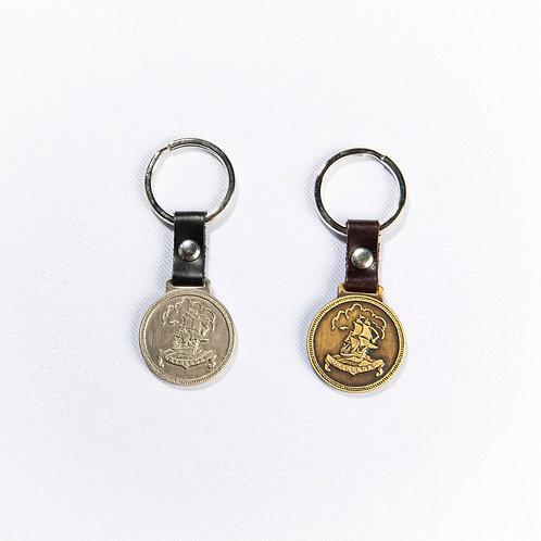 Nyckelring, mynt