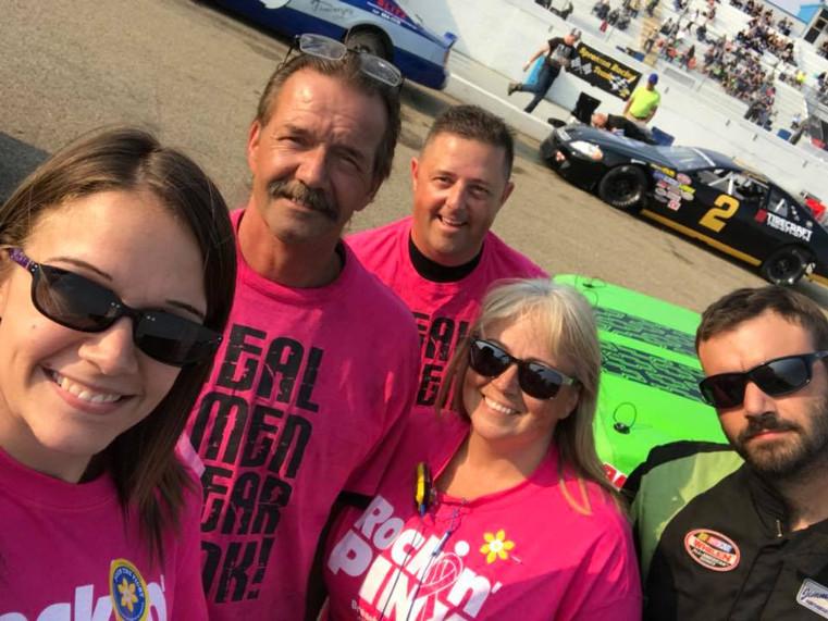 Teams raising awareness and all smiles