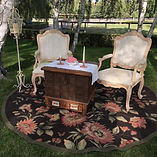 vintage event rentals at Whispering Rose Ranch