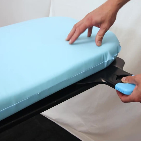 Inserting the Bases Underneath the Mattress