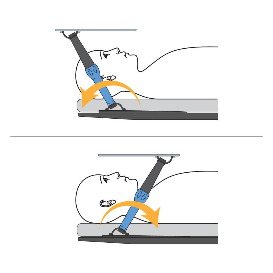 Tilt leg to lower height