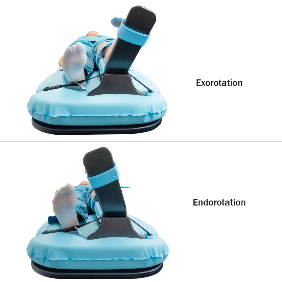 Inserting the Foot Plate /Leg Pad Placement