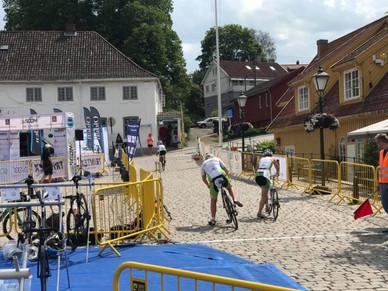 LItt utfordrende start på sykkeldelen