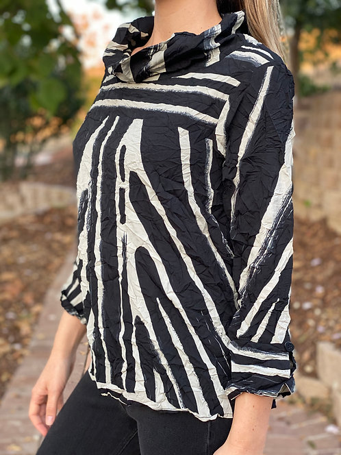 Crepe Tribal Hailey Pullover