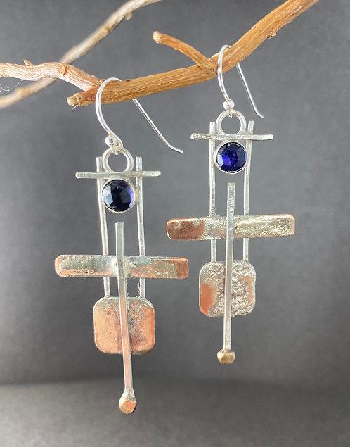 Copper Deco Earrings