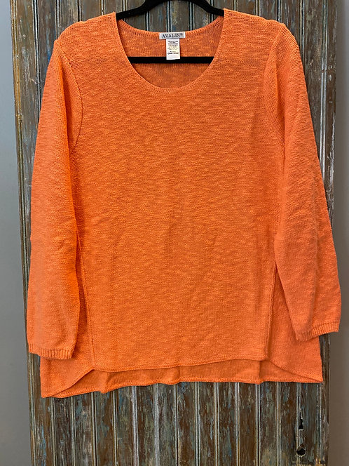 Cotton Front Seam Sweater