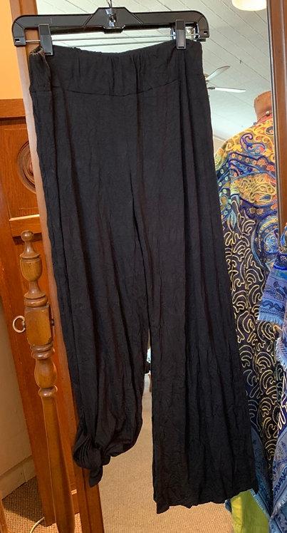 Side Slit Crinkle Pants