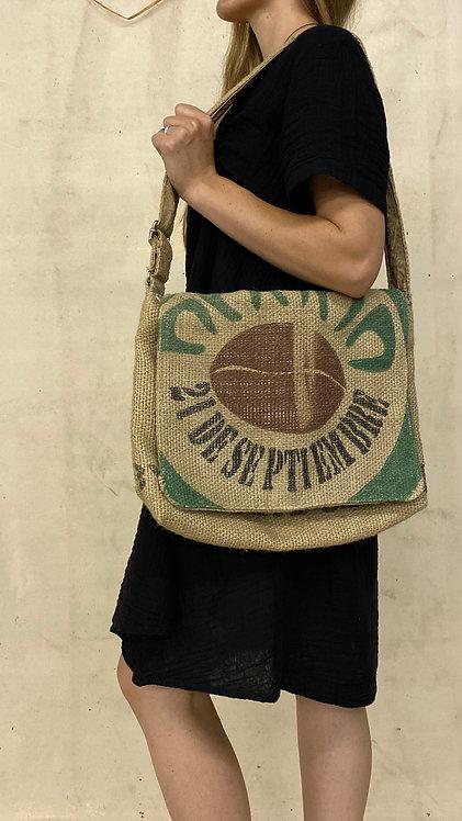 Burlap Coffee Bean Shoulder Bag