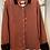 Thumbnail: Heavy Linen Shirt with Velvet Collar and Cuffs