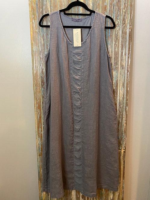 Placket Dress Linen Combo