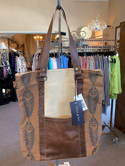 Canvas/Leather Tote Bag