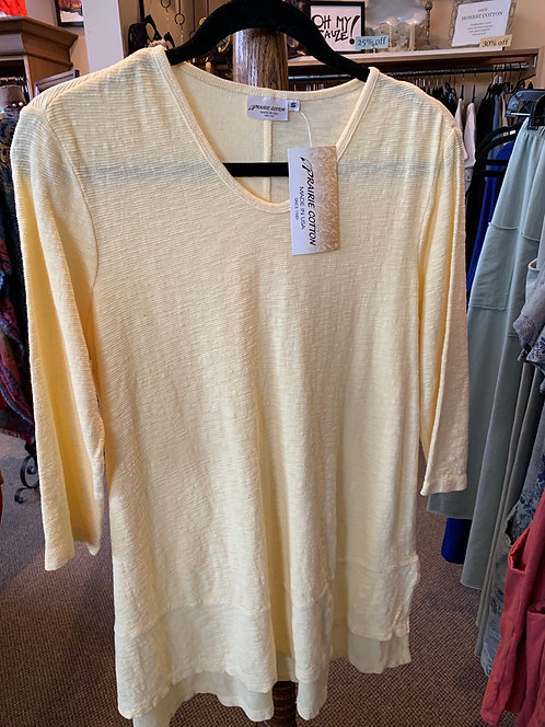 3/4 Sleeve Soft V-Neck Tunic