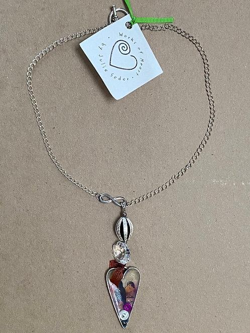 Bird in Heart Necklace