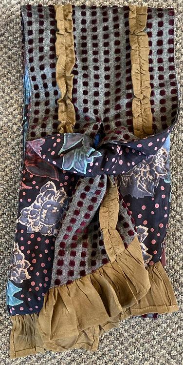 Joni Stripes & Square Velvet Scarves