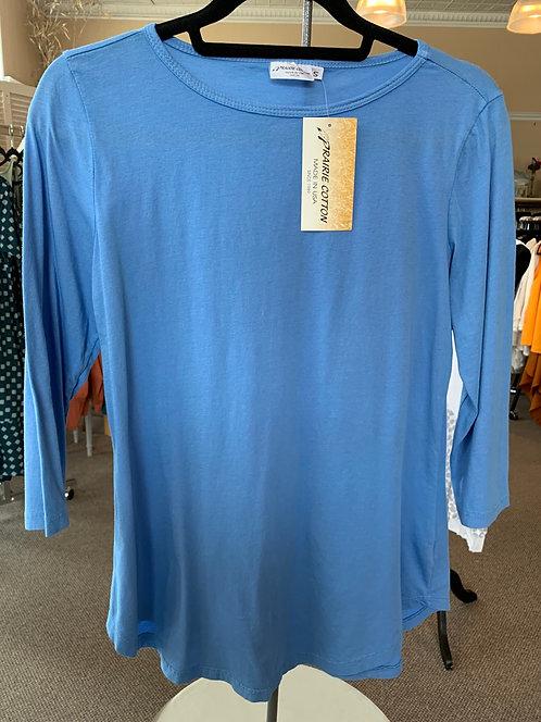 3/4 Slv Boatneck Shirt-Tail