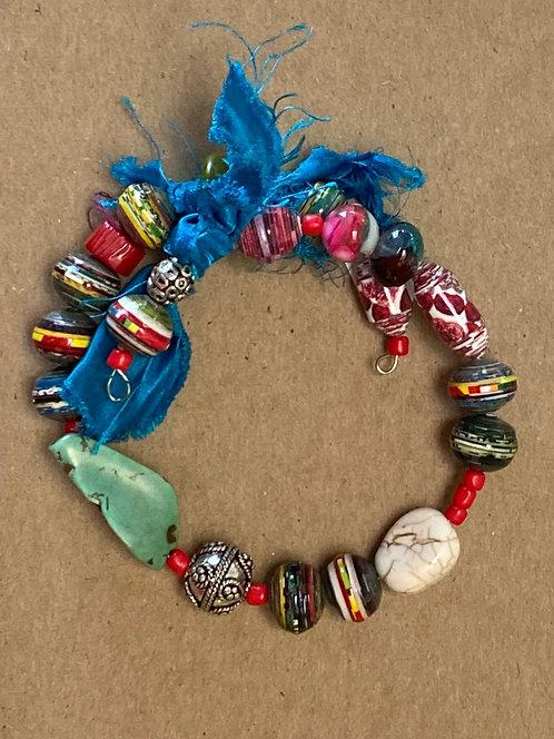 Funky Rolled Paper Bracelet