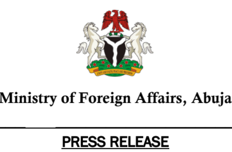 STATEMENT ON THE SITUATION IN NIGERIAN FOREIGN MISSIONS IN THE WAKE OF THE CORONAVIRUS PANDEMIC