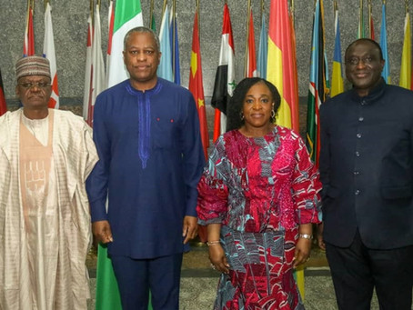 The Honourable Minister of Foreign Affairs, Geoffrey Onyeama, received in audience the Minister of F
