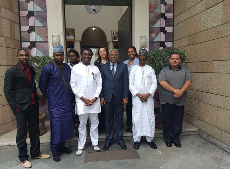 Send off reception in honor of Mr. Ogbole Amedu Ode, the Minister Plenipotentiary