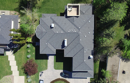 house drone view