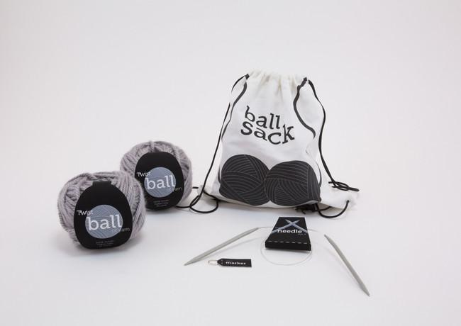 Ball Sack Knitting Kit