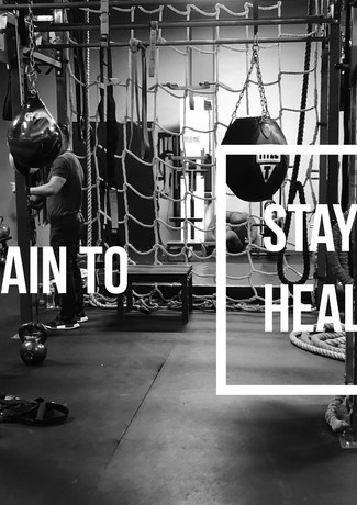 I train to stay healthy
