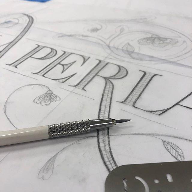 Hand drawn type process