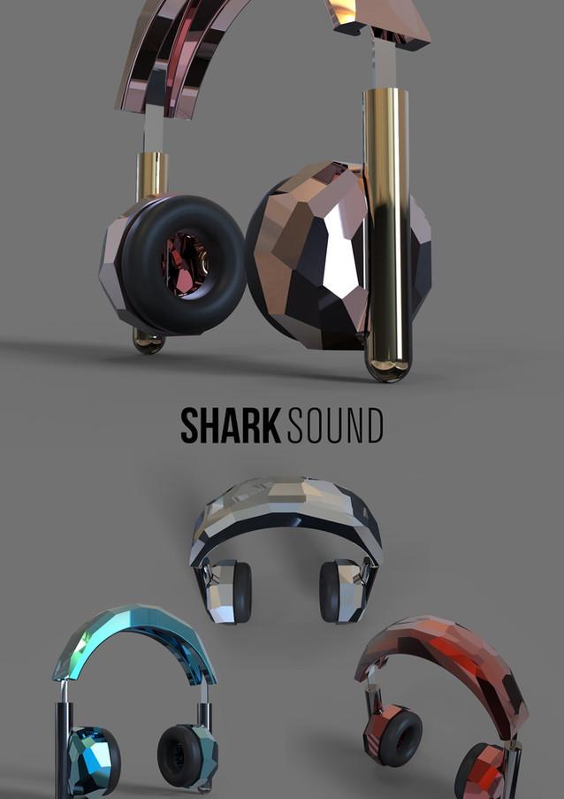Discoball headphones poster