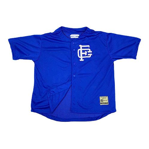 Mesh Baseball Jersey Blue