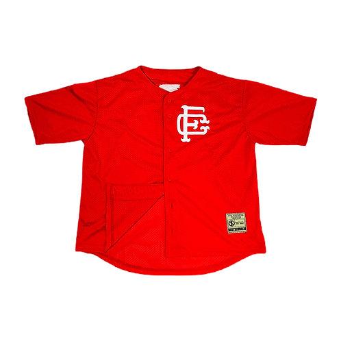 Mesh Baseball Jersey Red