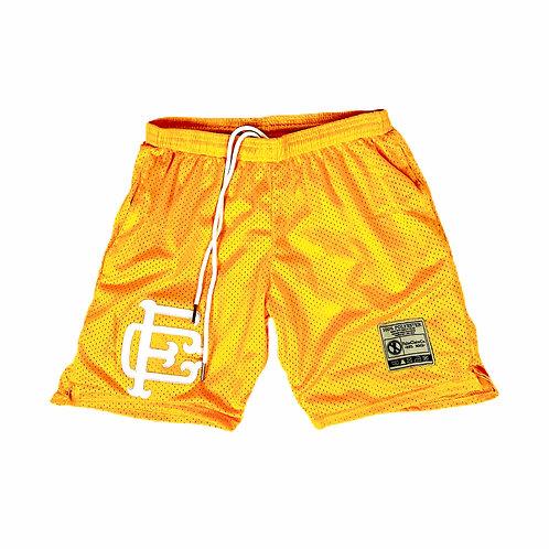 Mesh Shorts Gold