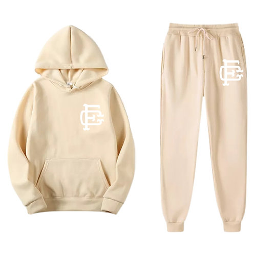Soft Creme Emblem Sweatsuit