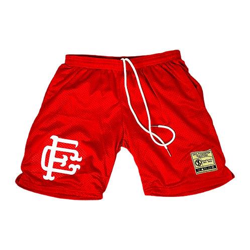 Mesh Shorts Red