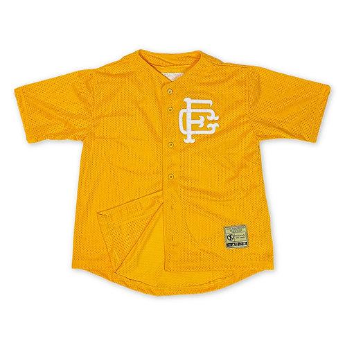 Mesh Baseball Jersey Gold