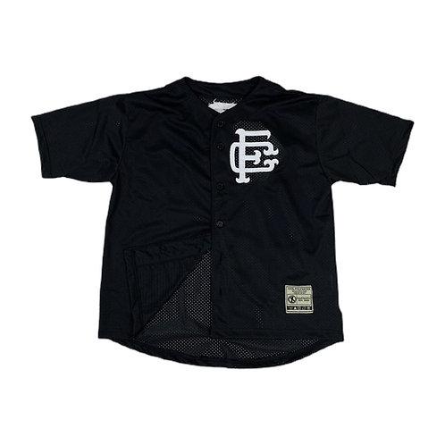 Mesh Baseball Jersey Black
