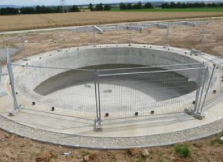 Fondation d'un mât, 200m2 au sol