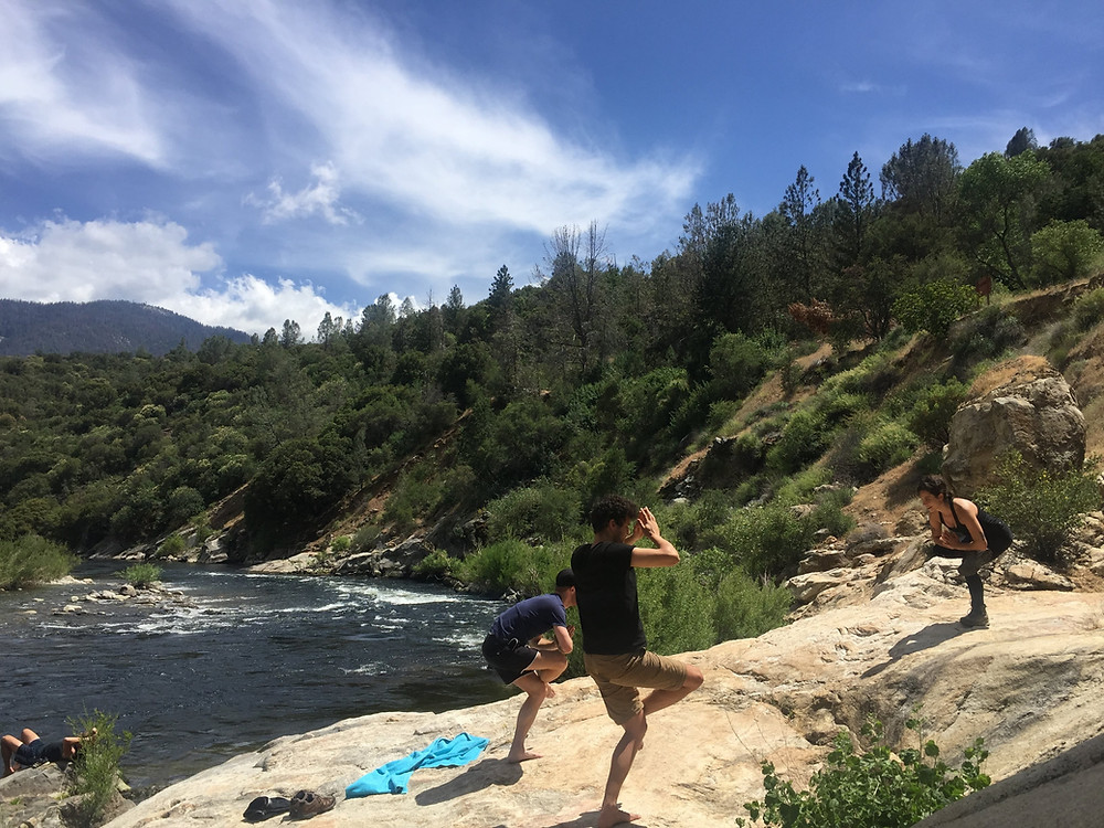 Yoga teacher in nature