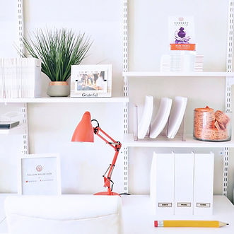 Desk white with coral lamp.jpg