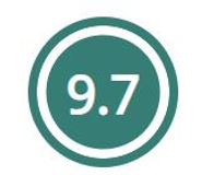 Home care review score of 9.7
