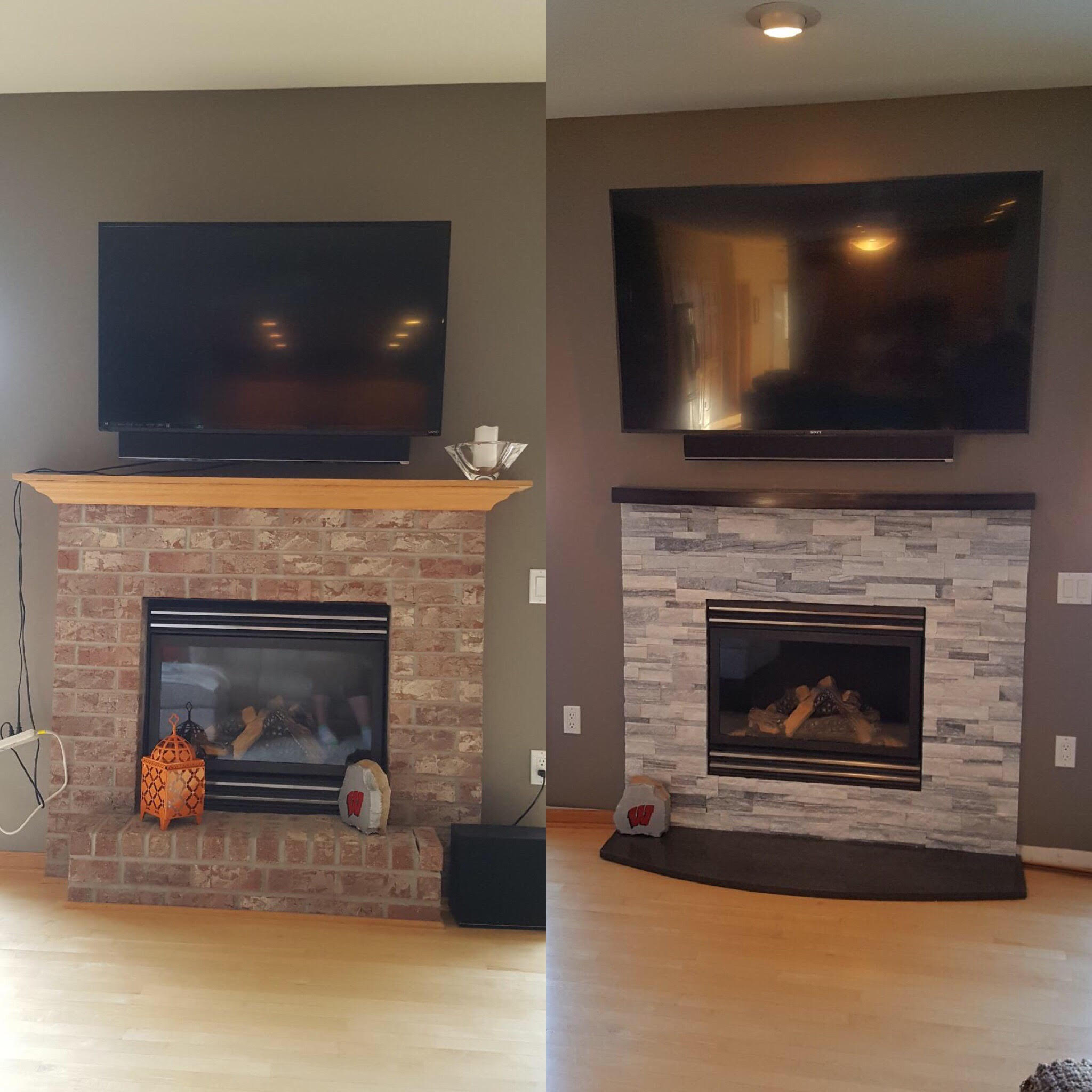 Milani Fireplace Before and After