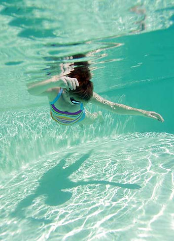 swimmer playing in water