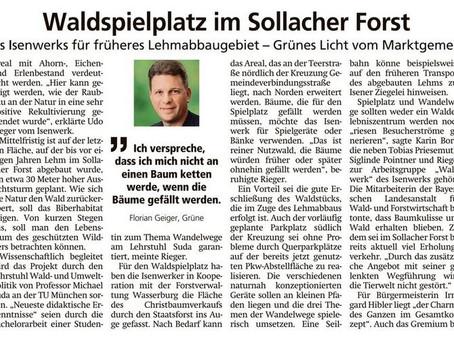 Grünes Licht für den Waldspielplatz im Sollacher Forst