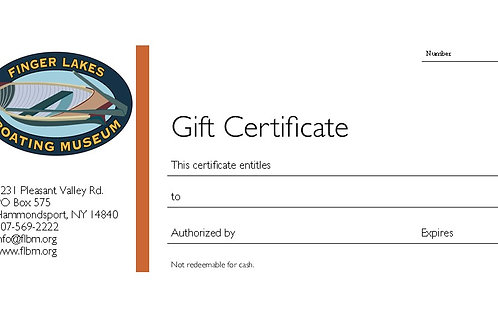 Gift Certificate and Card Combo!