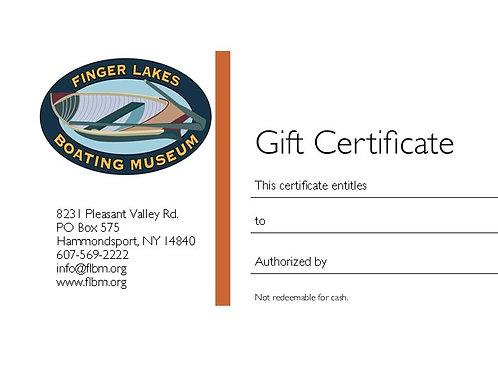 FLBM Gift Certificate