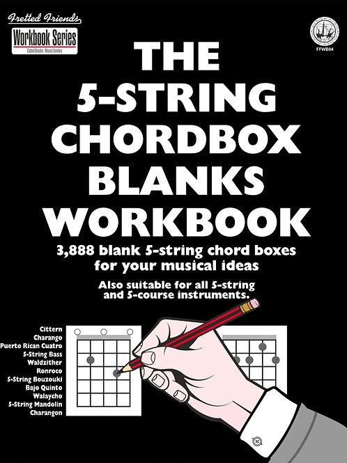FFWB04 The 5-String Chordbox Blanks Workbook