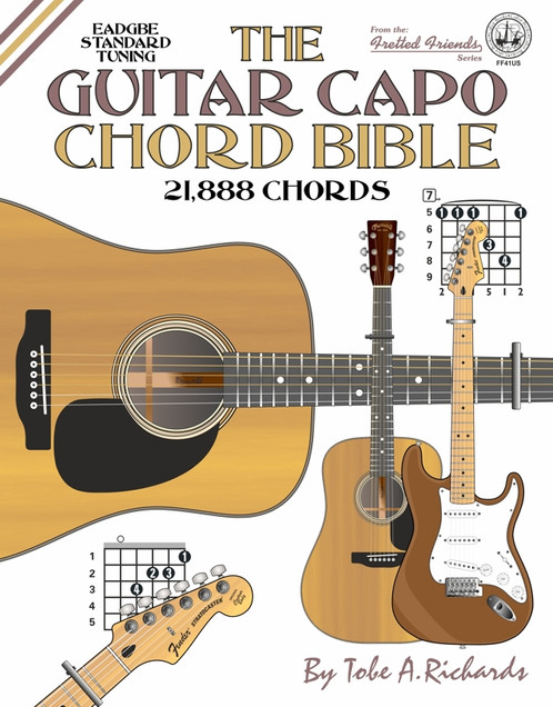 Ff41us The Guitar Capo Chord Bible Cabot Books Publishing