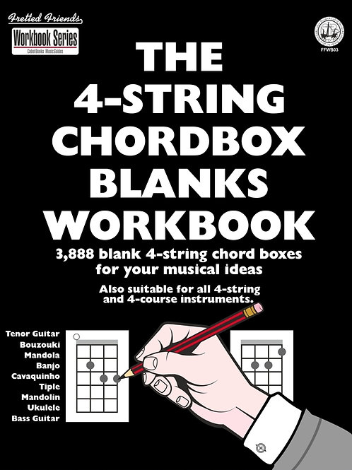 FFWB03 The 4-String Chordbox Blanks Workbook