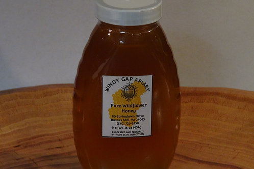 Pure Wildflower Honey - 16 oz Glass Jar
