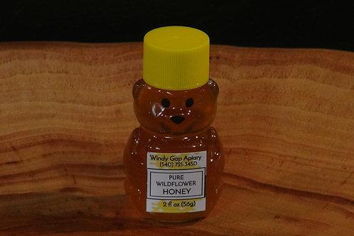 Pure Wildflower Honey - 2 oz. Mini-Bear